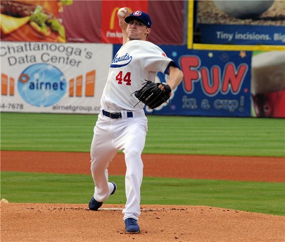 While most of the attention has been on first round draft picks Zach Lee (2011) and Chris Reed (2012), fifth round draft pick Ross Stripling (2012) has quietly been out-pitching both of them. (Photo credit - Tim Evearitt)