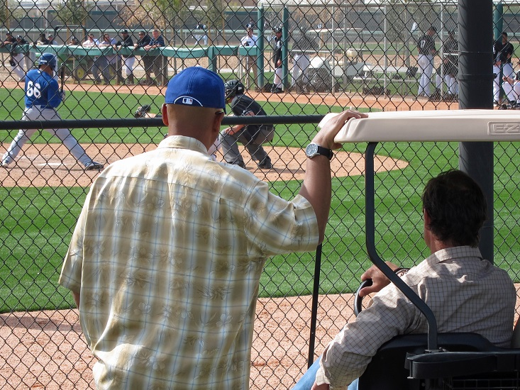 Minor leaguers are scrutinized very closely during spring training especially by Dejon Watson. Even Dodger manager Don Mattingly will get in on the action when the big leaguers have a day off. (Photo credit - Ron Cervenka)