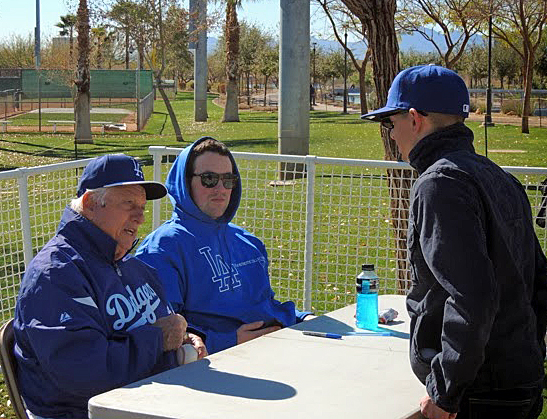 One thing you can absolutely count on at Camelback Ranch during spring training is Tommy Lasorda signing autographs for fans. (Photo credit - Evan Bladh)