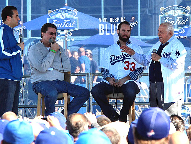 Nobody can fire up a crowd like Tommy Lasorda. Nobody. (Photo credit - Ron Cervenka)