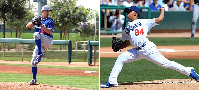A one-two punch of Lindsey Caughel and Julio Urias along with Chris Anderson and Tom Windle give the Quakes the best starting rotation in the extremely competitive California League. (Photo credit - Ron Cervenka & Jon SooHoo)