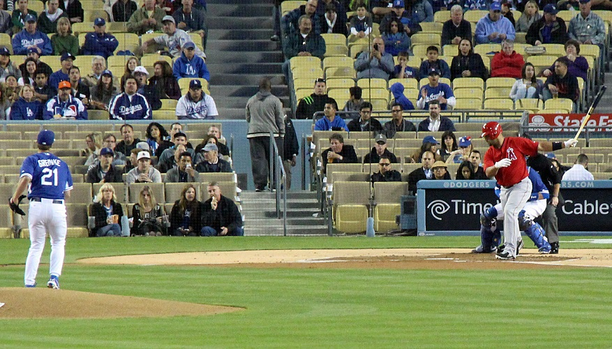 Greinke was extremely sharp on Thursday night. He is seen here striking out Albert Pujols on a filthy change-up that badly fooled the slugger. (Photo credit - Ron Cervenka)