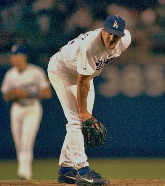 Radinsky put up excellent numbers during his three seasons with the Dodgers from 1996-1998. (Photo credit - Jon SooHoo)