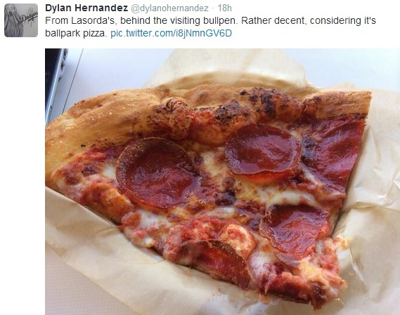 Such an endorsement from Dylan Hernandez is like an 'Off the Hook' rating from Guy Fieri.  (Twitter image courtesy of @dylanohernandez)