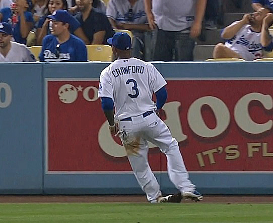 When Crawford rolled his ankle there was zero doubt that he was headed for the disabled list. (Video capture courtesy of SportsNetLA)