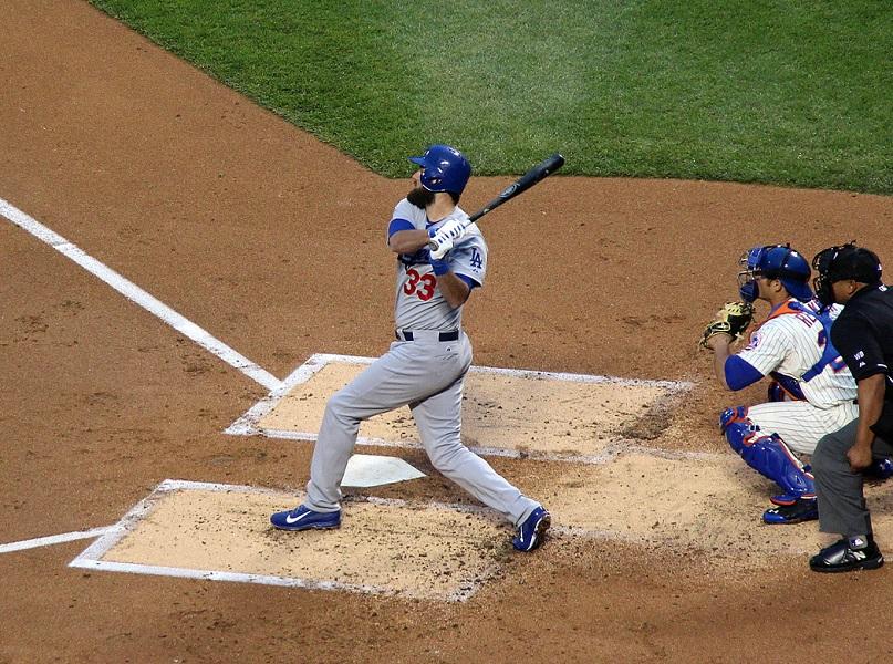 Scott Van Slyke is valuable to the Dodgers - perhaps too valuable. (Photo credit - Ron Cervenka)