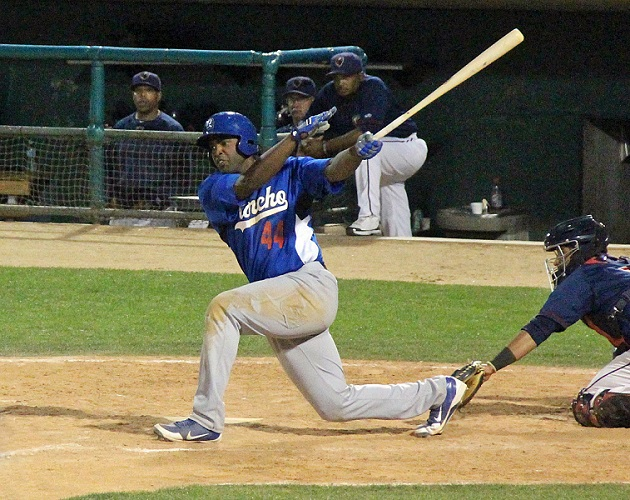 Quakes first baseman Chris had a great month of May with several game-winning hits. (Photo credit - Ron Cervenka)