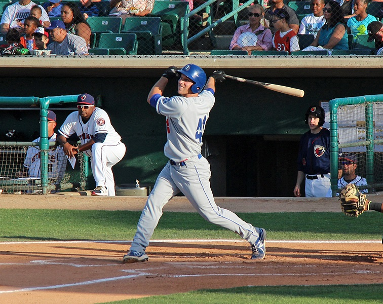 Designated hitter Miller collected his fourth home run in nine games on Wednesday night - a two run shot that provided two of the Quakes three runs in a 16-3 rout by the JetHawks. (Photo credit - Ron Cervenka)