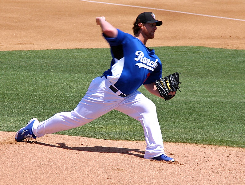 Billingsley said that his rehab game on Sunday afternoon was the equivalent of pitching his first game of spring training. (Photo credit - Ron Cervenka)