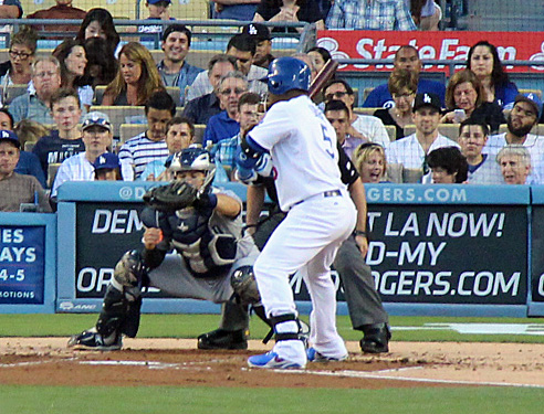 Uribe's outstanding seven-pitch at bat that ended with a walk set up the game-winner for Ellis. (Photo credit - Ron Cervenka)