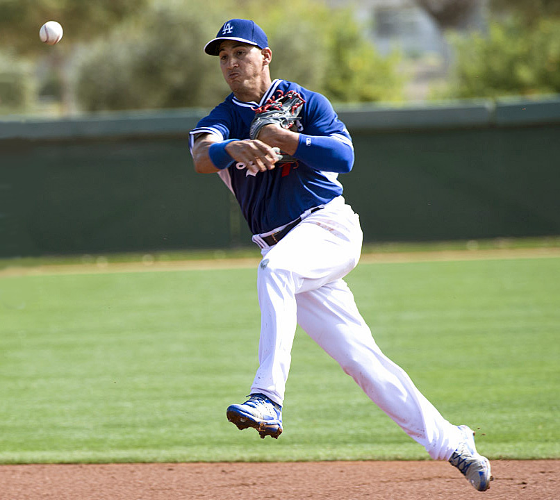 Although Alex Guerrero has spent very little time working out at third base, he is a very viable option for the Dodgers. (Photo credit - Jon SooHoo)