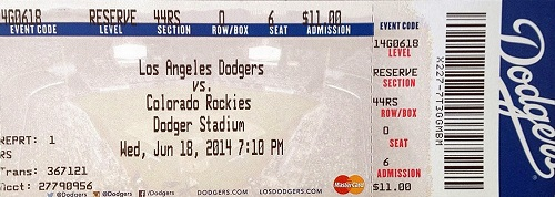 Actual hard tickets from Kershaw's no-hitter are already going for upwards of $250 on eBay.