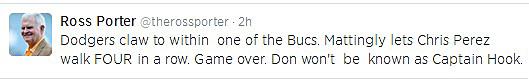 Ross Porter Tweet