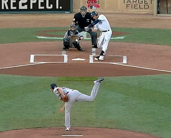 Does this pitched look piped to you, especially from one of the best control pitchers in the game today? (Video capture courtesy of FoxSports)