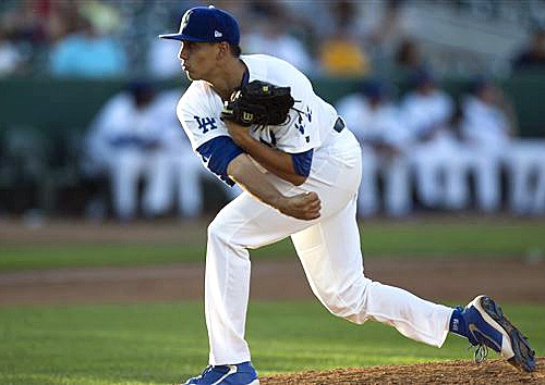 Hard-throwing right-hander Jose De Leon has shown excellent command and control in his first two seasons in the minors. (Photo courtesy of MiLB.com)