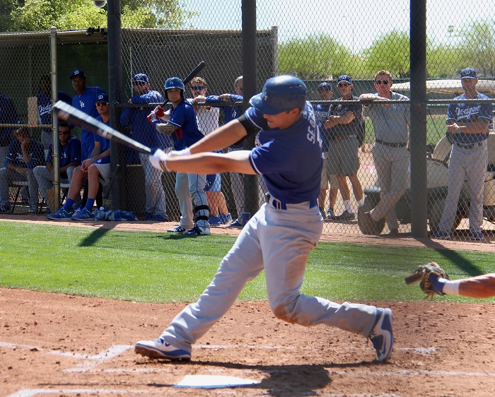 Although Seager did not get a hit in his four at-bats on Thursday, he did fly out to deep left field in his first plate appearance. (Photo credit - Ron Cervenka)
