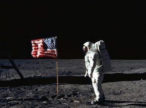 Neil Armstrong Flag Moon - NASA FP