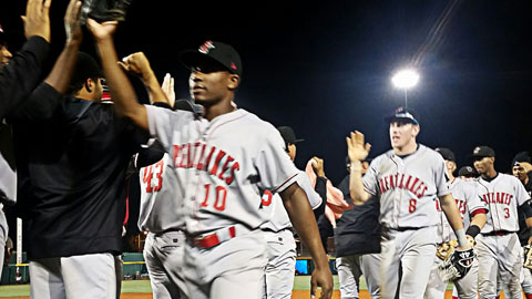 The Great Lakes Loons opened the Eastern Division Championship Series with a  4-1 win over the West Michigan West Michigan Whitecaps. (Photo courtesy of Great Lakes Loons)