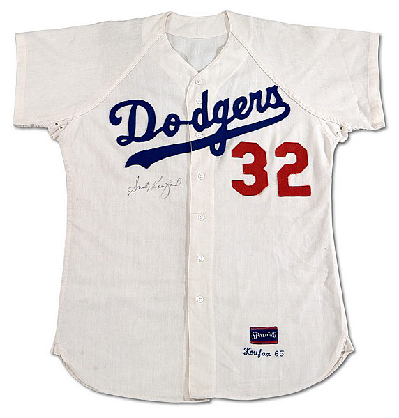 This 1965 game-worn autographed Sandy Koufax jersey would be a prize for  every true 475286918