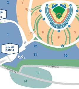 News | Think Blue LA Dodger Stadium Parking Lot Map on