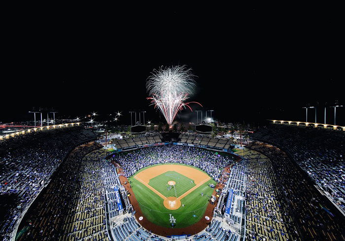 DS Fireworks - Dodgers 2020 Promotional Schedule & Giveaways: Max Muncy, Vin Scully & 18 Bobblehead Dates, $1 Dodger Dog Nights, And More