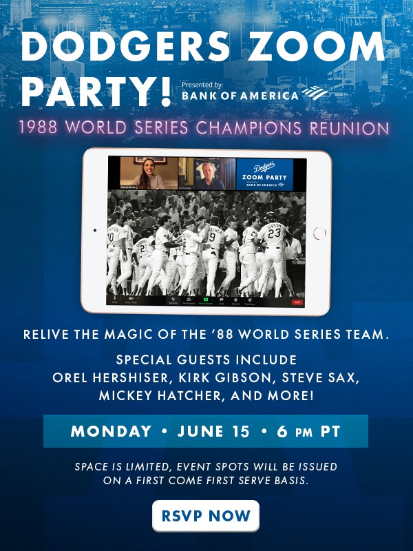 Dodgers 88 World Series Zoom Party Is On Think Blue La